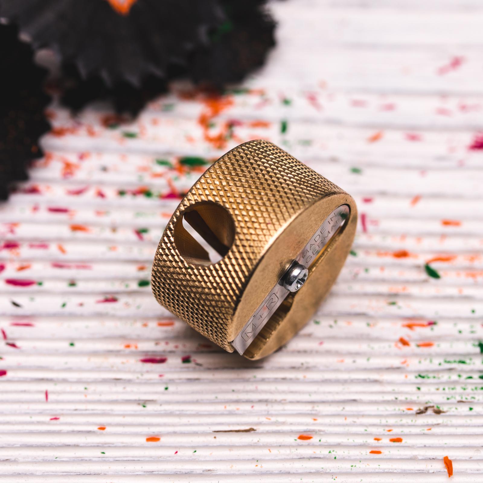 Möbius & Ruppert - Brass Round Double-Hole Sharpener