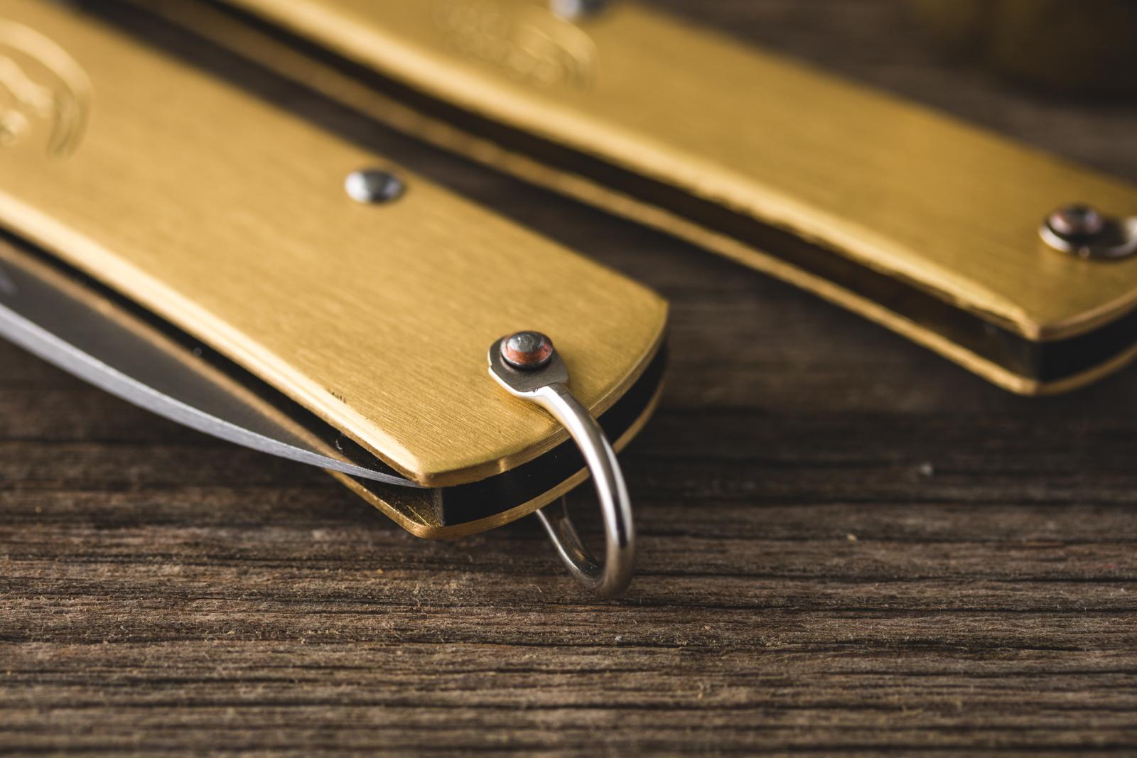 Otter Messer - Brass Mercator Knife