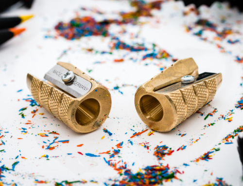 "Möbius & Ruppert – Brass ""Grenade"" Pencil Sharpener"