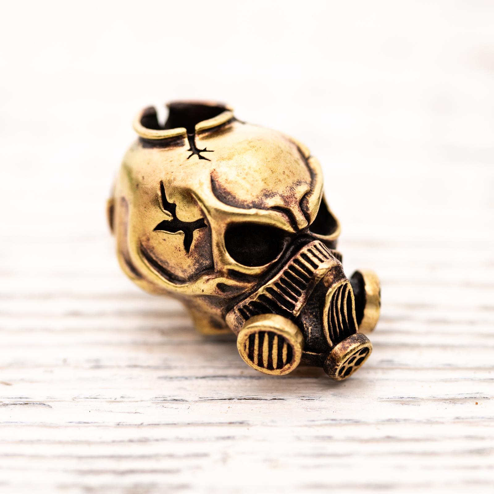 Techno Silver - Brass Bead Post Apocalyptica