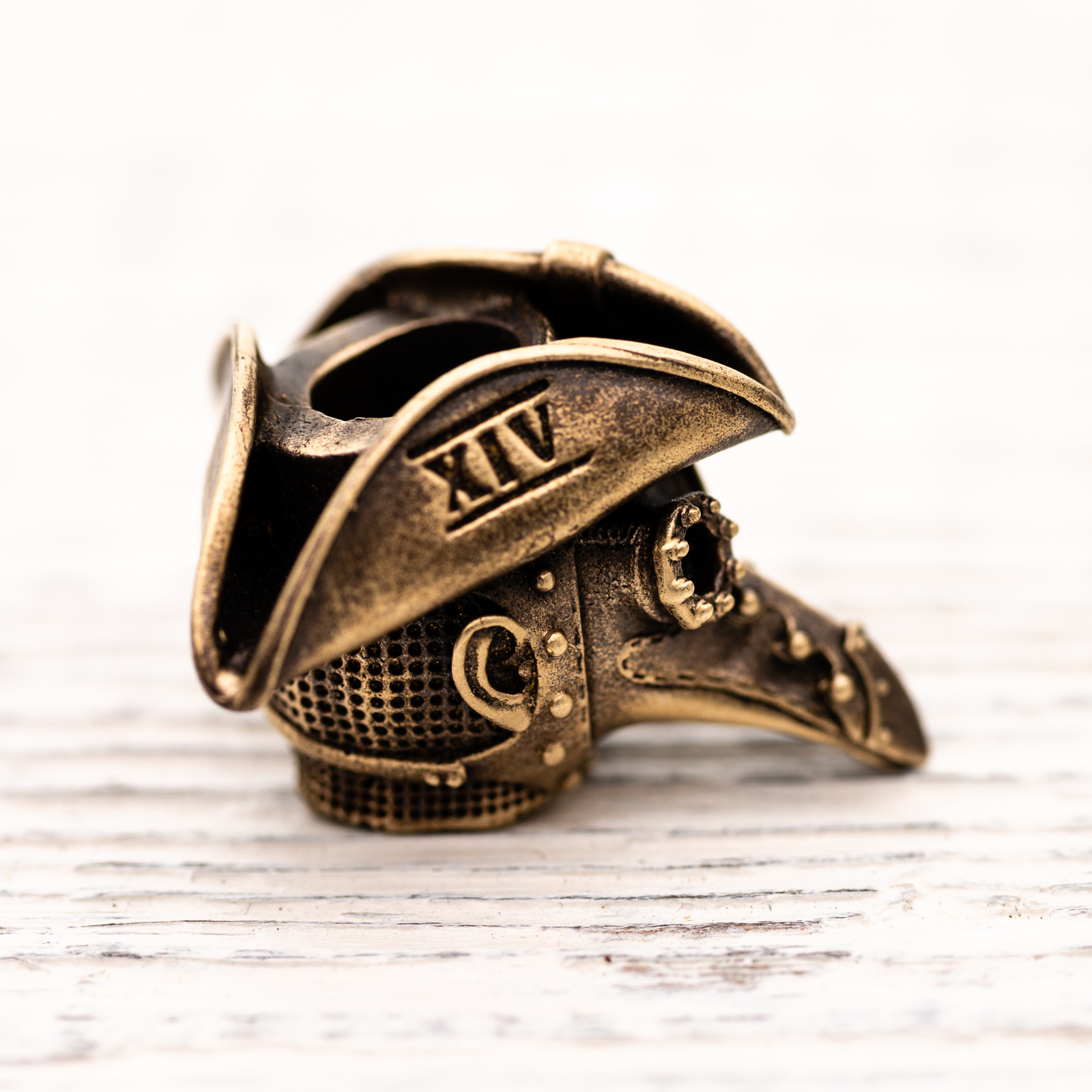 Techno Silver - Brass Bead Plague Doctor