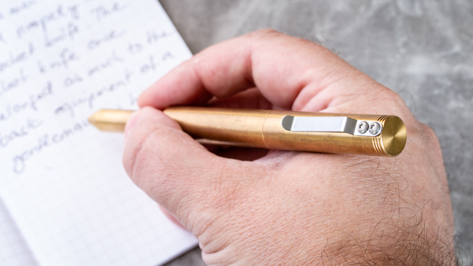 Schon DSGN - Brass Ballpoint Pen
