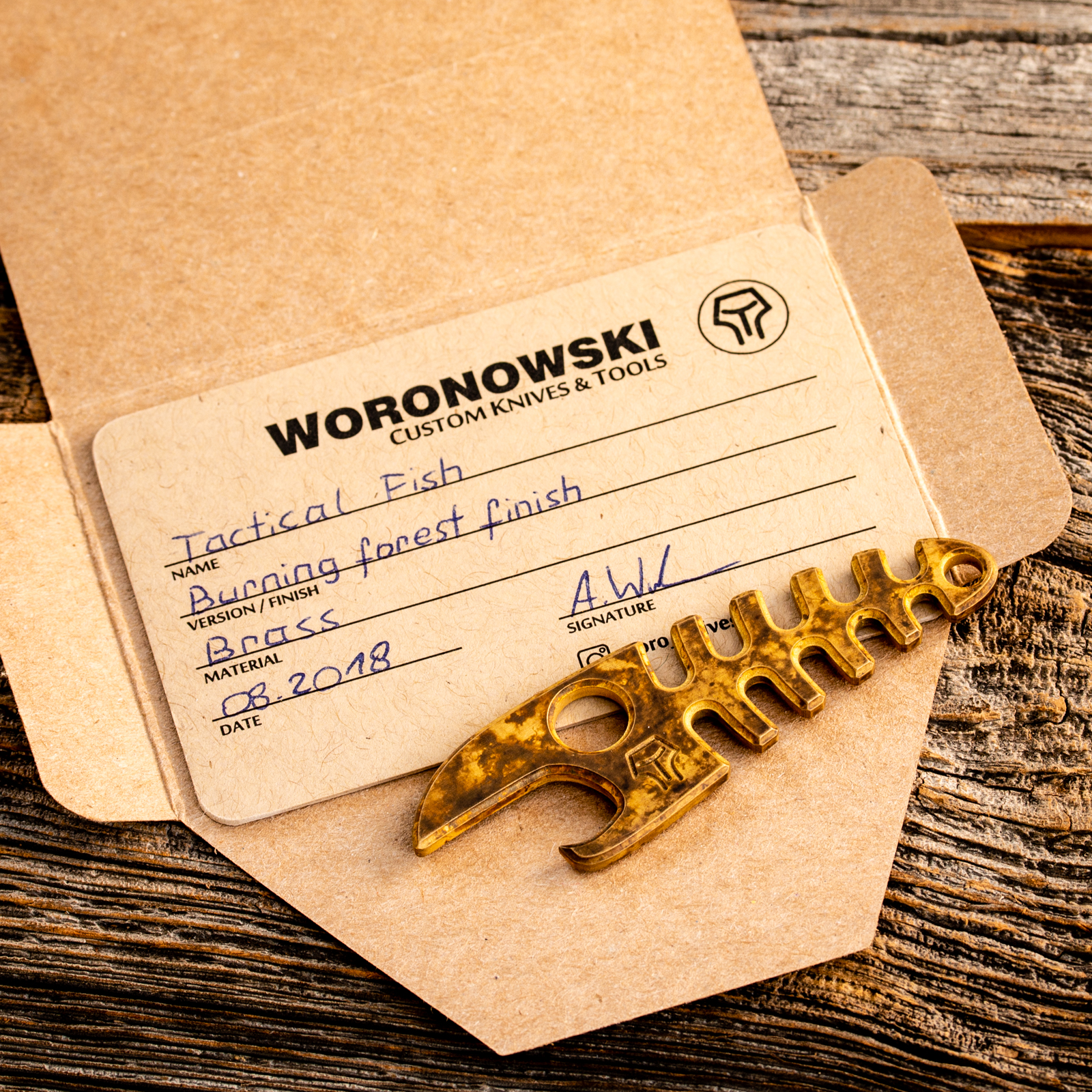 Woronowski Custom Knives & Tools - Tactical Fish